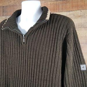 Colorado Sweaters - Mens Colorado Clothing Sweater Luxury Knit Brown S